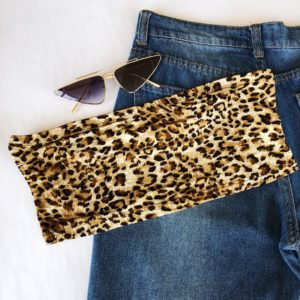 Leopard Print Tube top