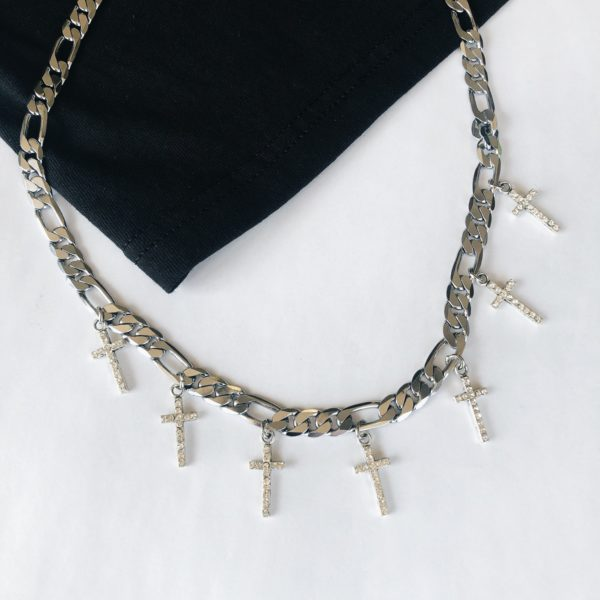 Curb Link Cross Chain