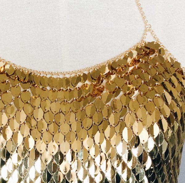 Gold Dragon Scale Bralette