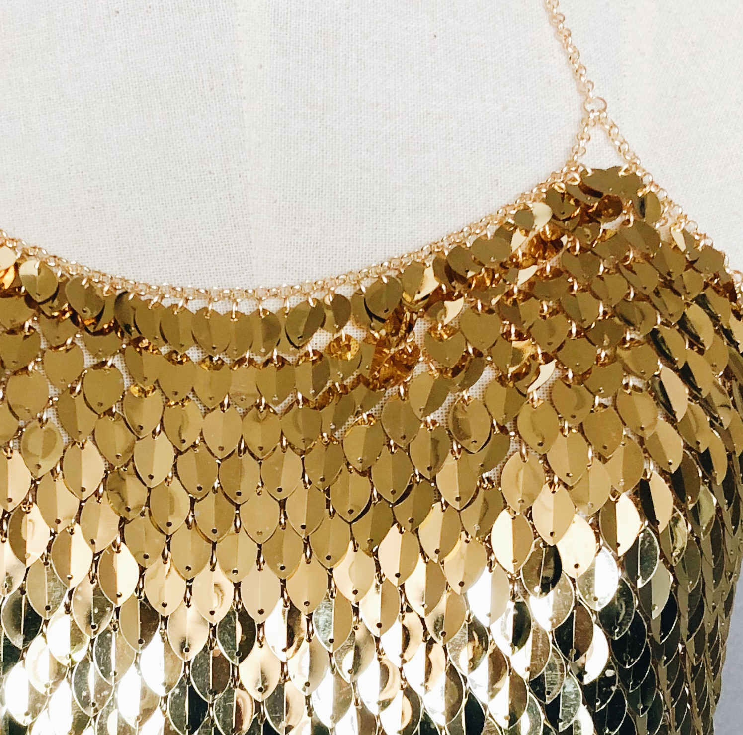 243f79ce3b Dragon Scale Gold Chain Bralette