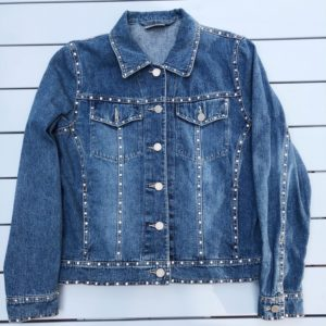 Crystal Studded Denim Jacket