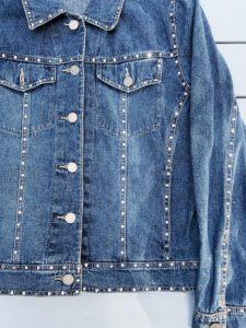 Crystal Studded Denim Jacket