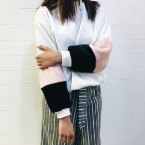Fur Sleeve Sweater