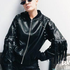 Tassel Leather Jacket