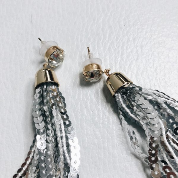 Sequin Tassel Earrings